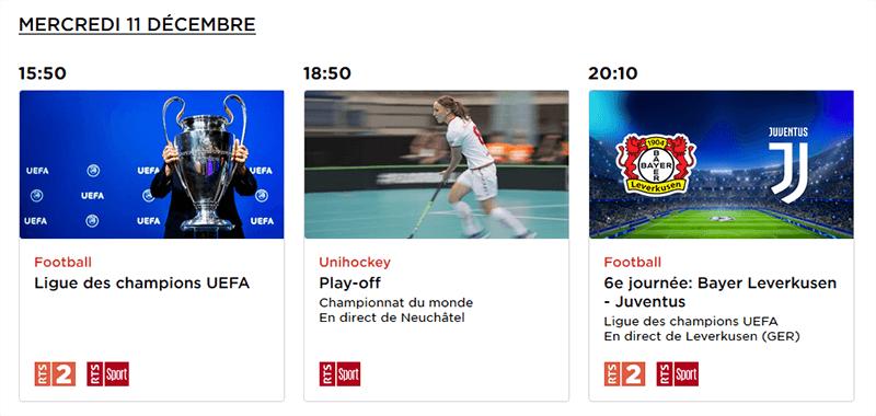 Leverkusen Juventus Programme RTS